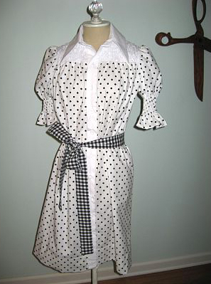 Smocked shirtdress